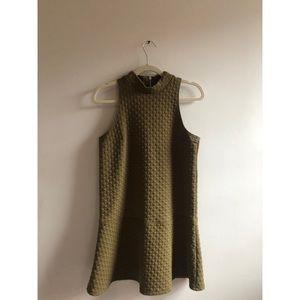 Olive Green Abercrombie Mock Neck Dress